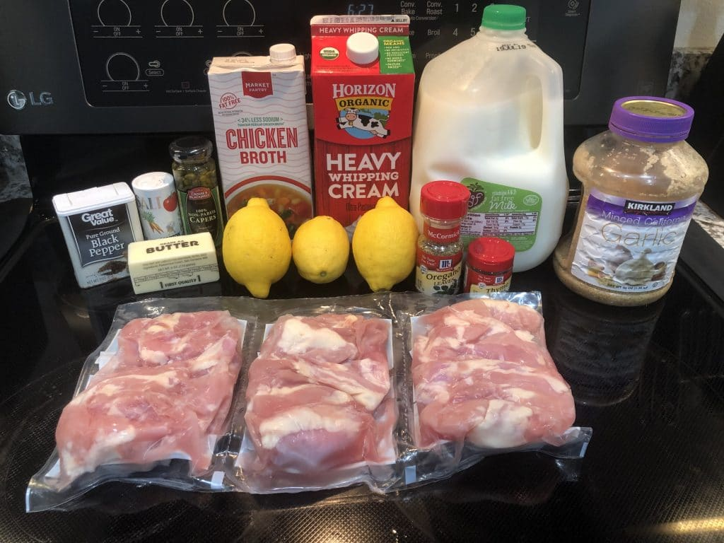 crock pot lemon caper butter ingredients