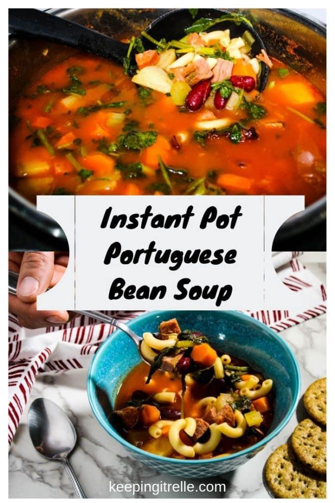 Instant Pot Portuguese bean soup