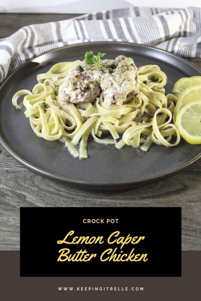 crock pot lemon caper butter chicken