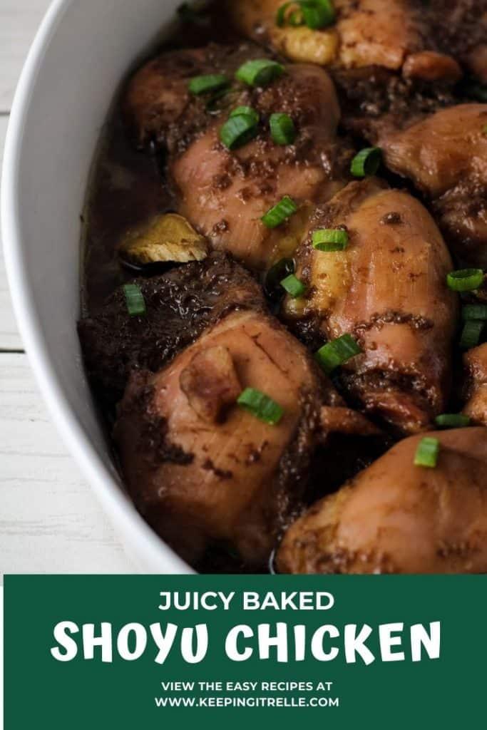 baked shoyu chicken