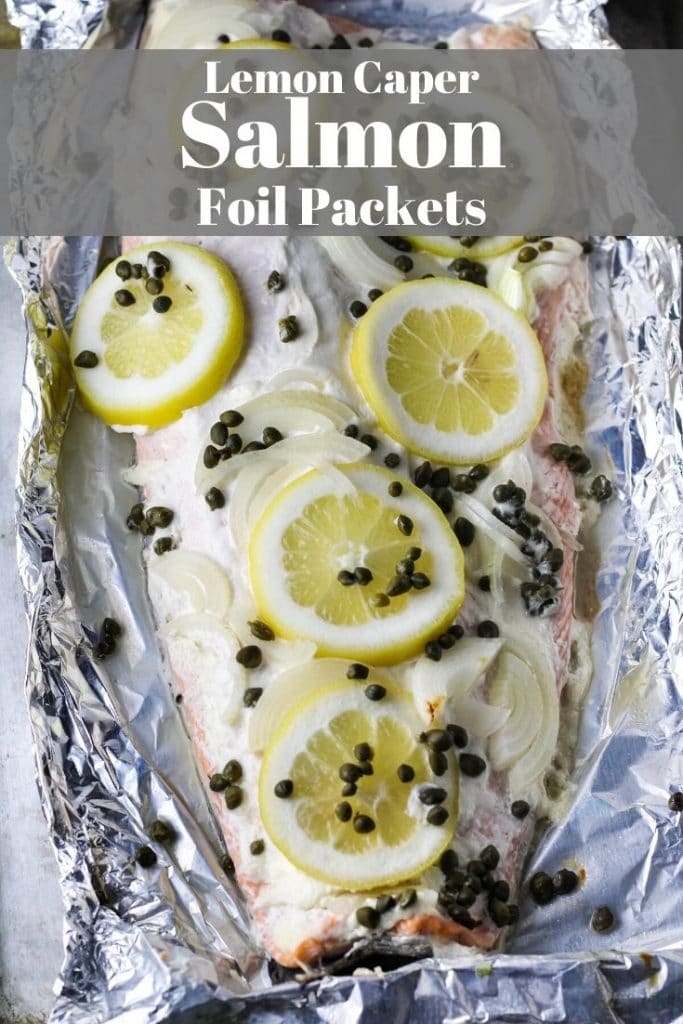 lemon caper salmon foil packets