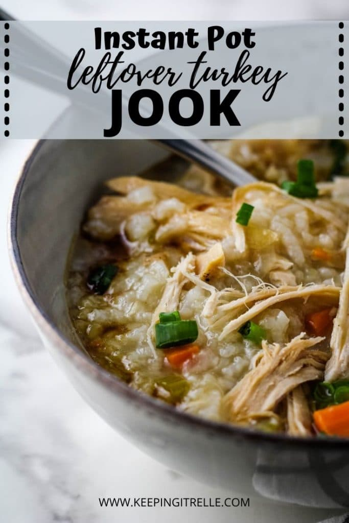 instant pot leftover turkey jook