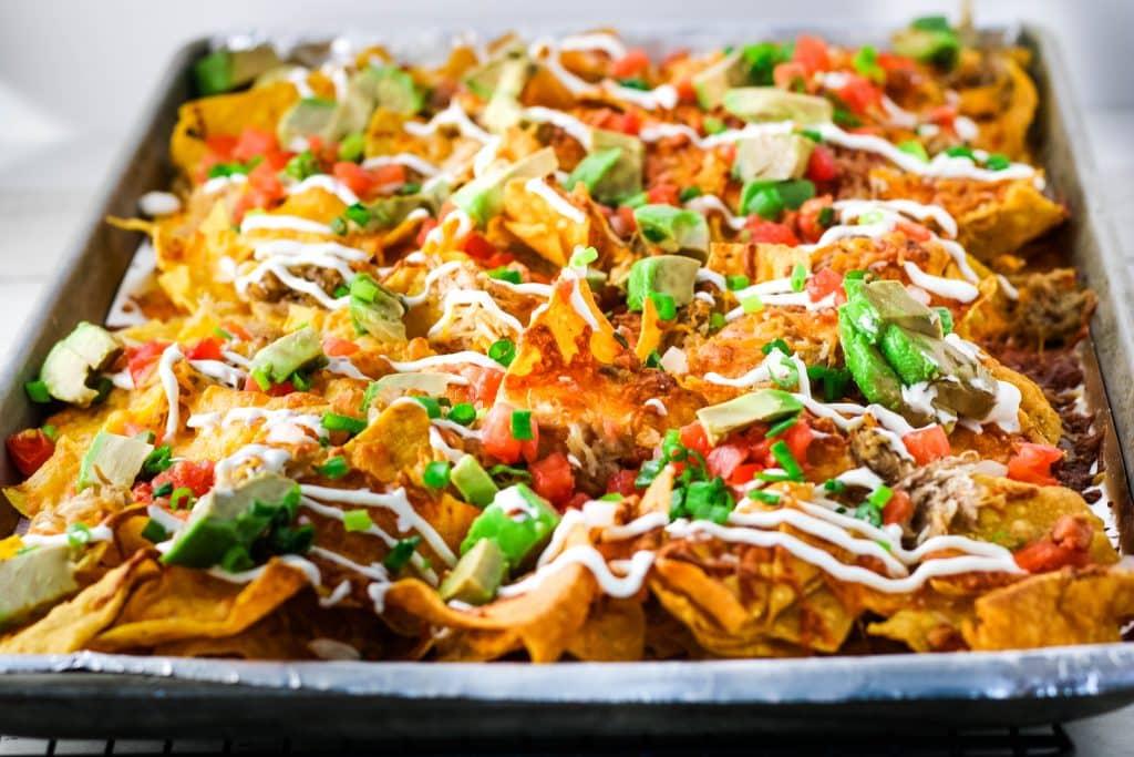 sheet pan kalua pig nachos