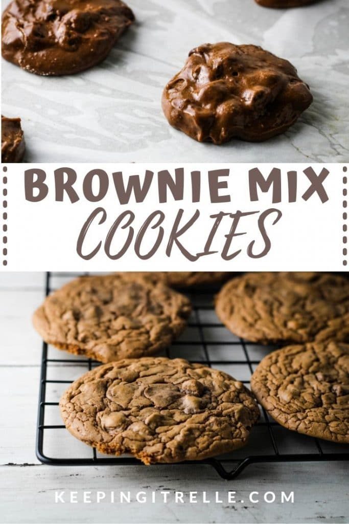 brownie mix cookie