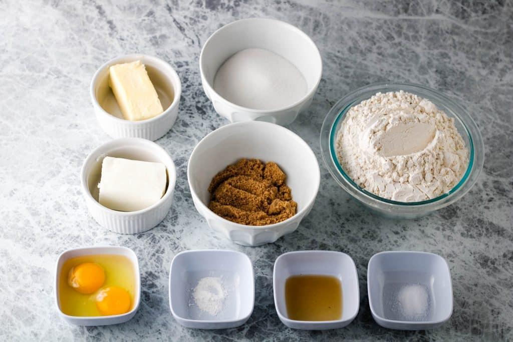 Caramel cookie ingredients