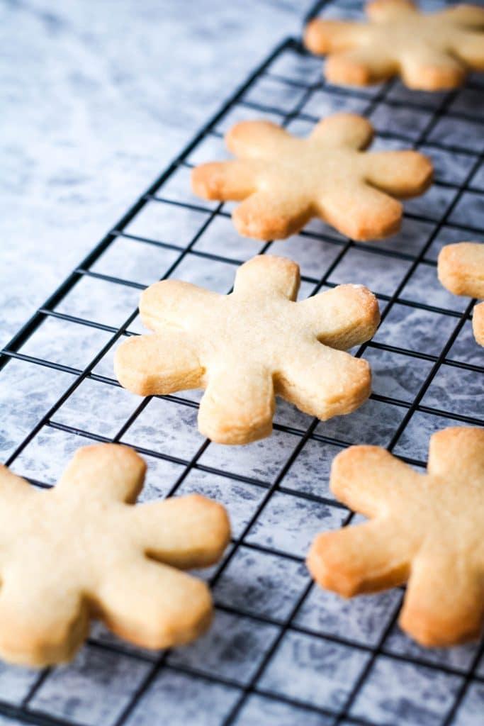 close up of caramel cookies