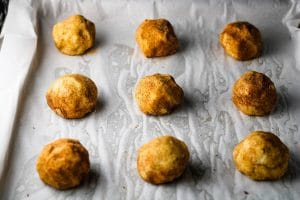 snickerdoodle cookie dough balls