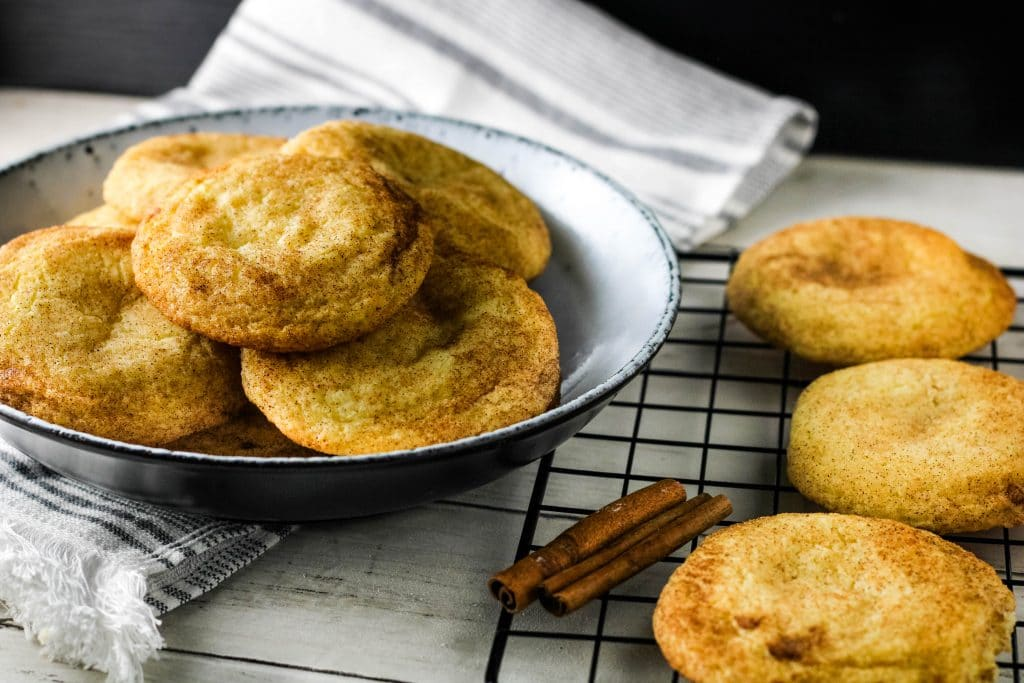 cheesecake stuffed snickerdoodle cookie