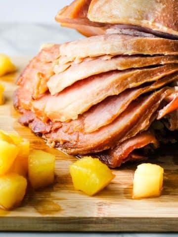 crock pot maple glazed ham