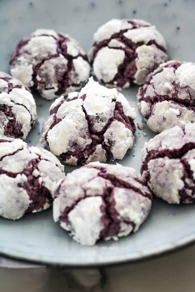 ube crinkle cookies