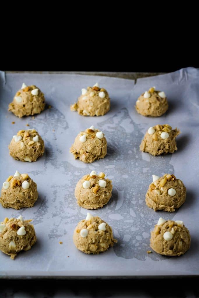 white chocolate macadamia nut cookie dough