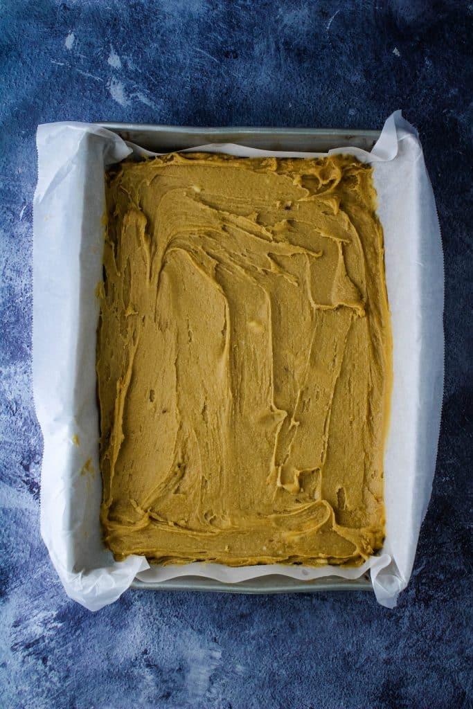 pan of haole brownie batter