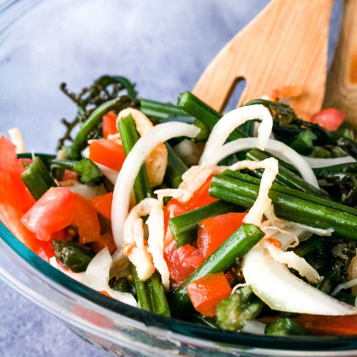 close up of pohole salad