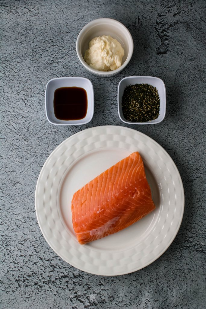 air fryer furikake salmon ingredients