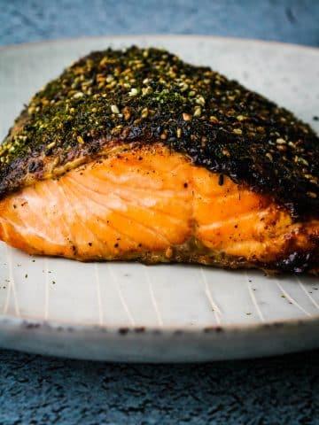 air fryer furikake salmon