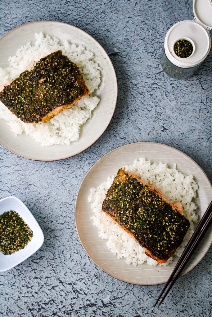 air fryer furikake salmon