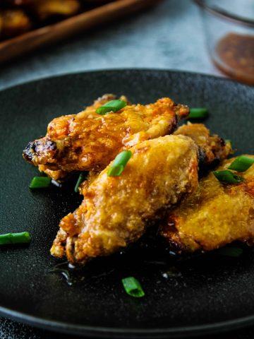 air fryer honey garlic chicken wings