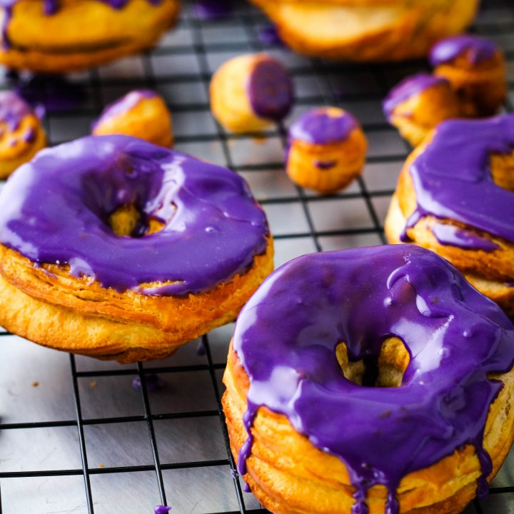 Quick and Easy Ube Glazed Air Fryer Donuts Recipe