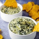 chips and spinach artichoke dip