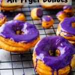 ube glazed air fryer donuts