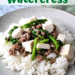 hamburger watercress
