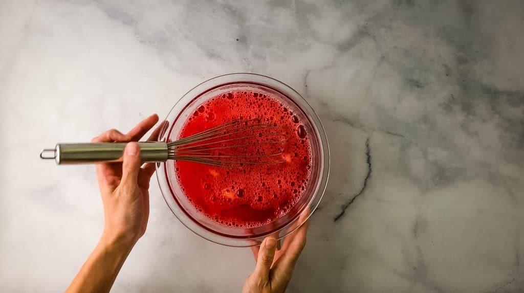bowl of strawberry jello