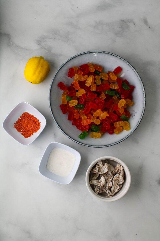 li hing mui lemon peel gummy bears ingredients