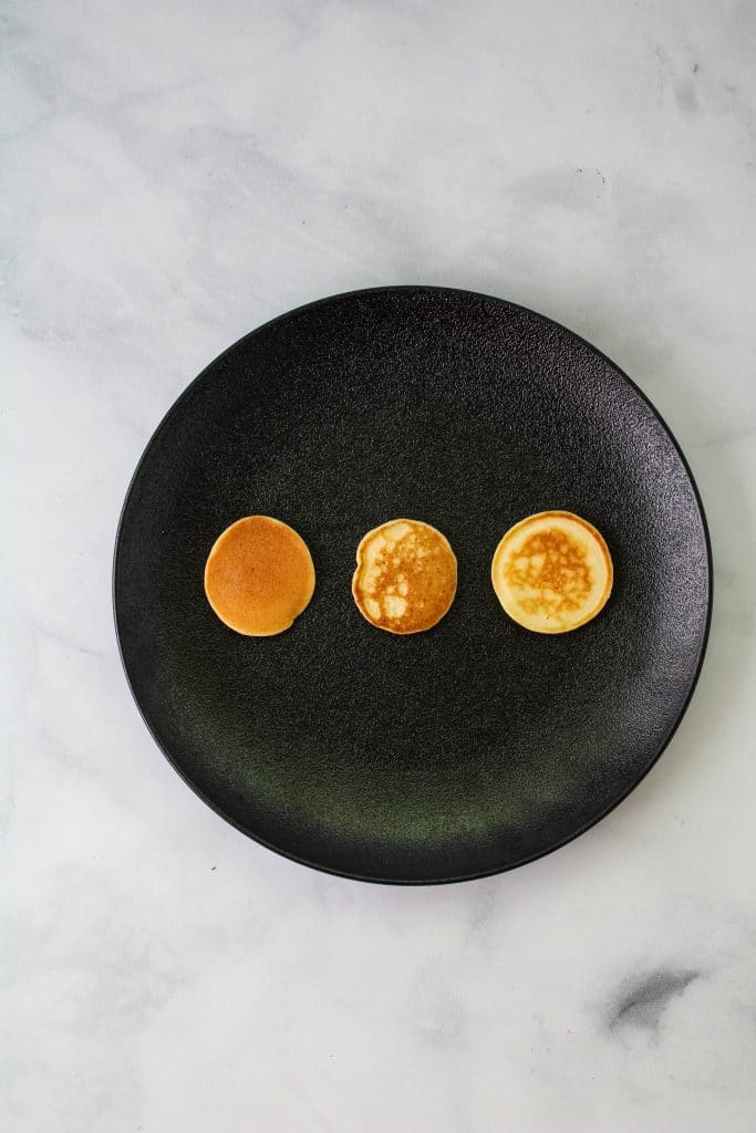 mini mochi pancakes on a plate