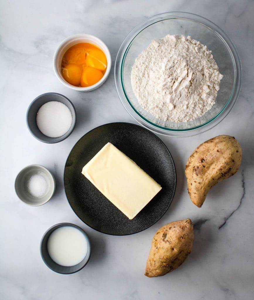 sweet potato manju ingredients