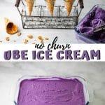 no churn ube ice cream