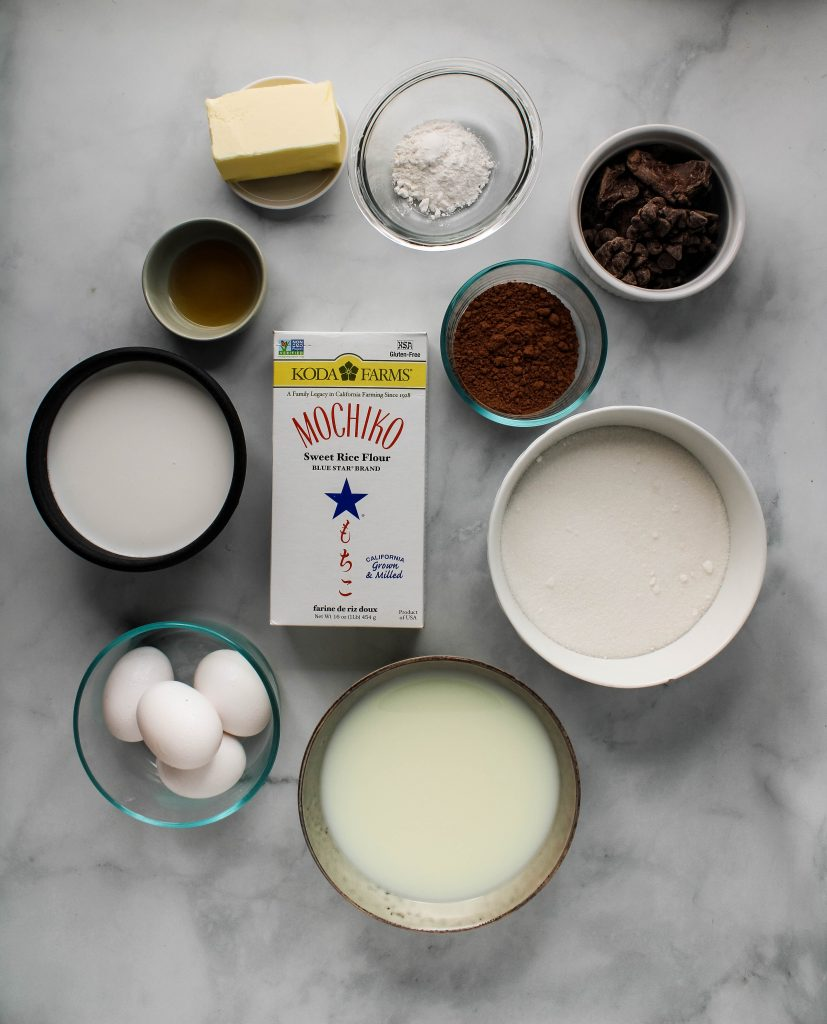 chocolate butter mochi ingredients