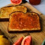 guava jam on toast