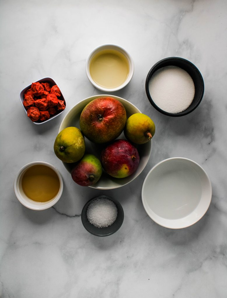 pickled mango ingredients