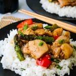 teriyaki chicken stir fry with white rice