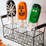 halloween cakesicles in glass jars