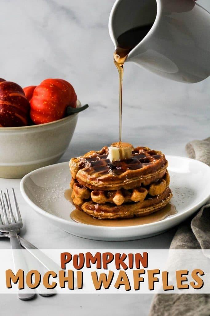 pumpkin mochi waffles pin
