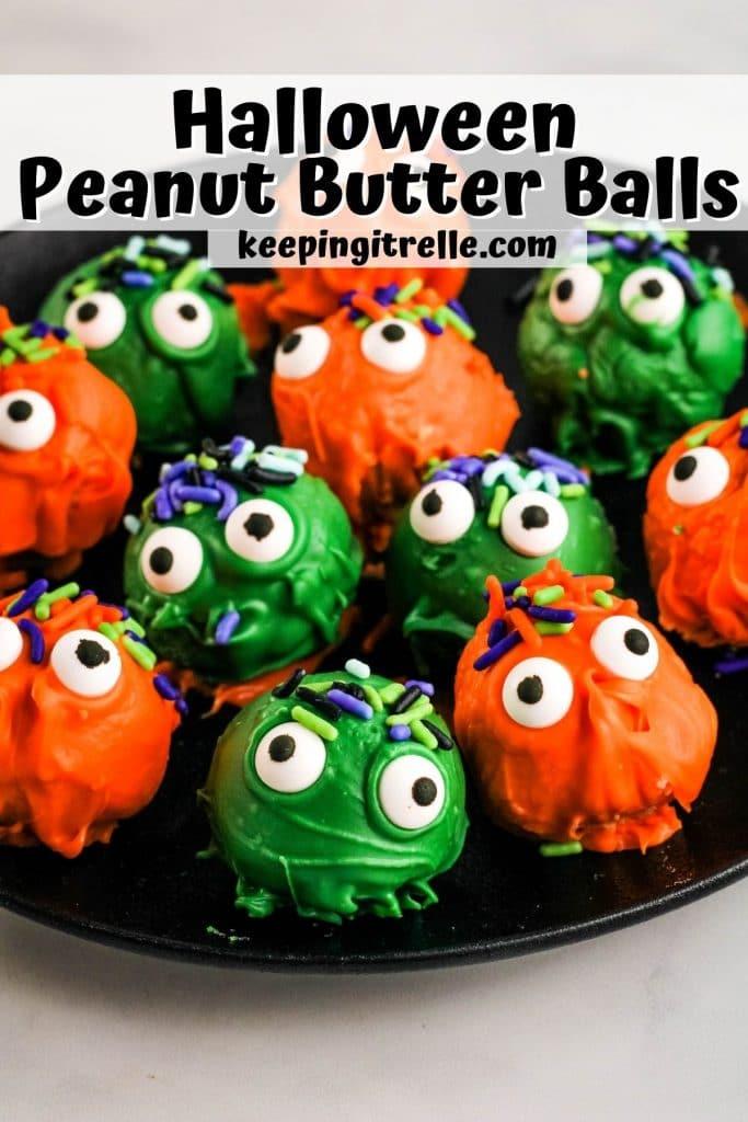 halloween peanut butter balls pin