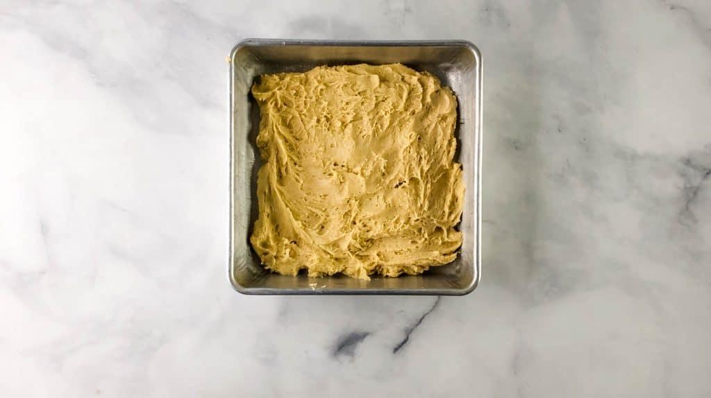 pancake mix cookie bar mix in pan
