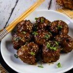 air fryer teriyaki meatballs