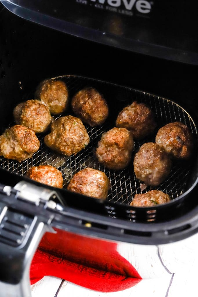 meatballs cooked in the airfryer