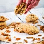 mochi crunch cookie split in half
