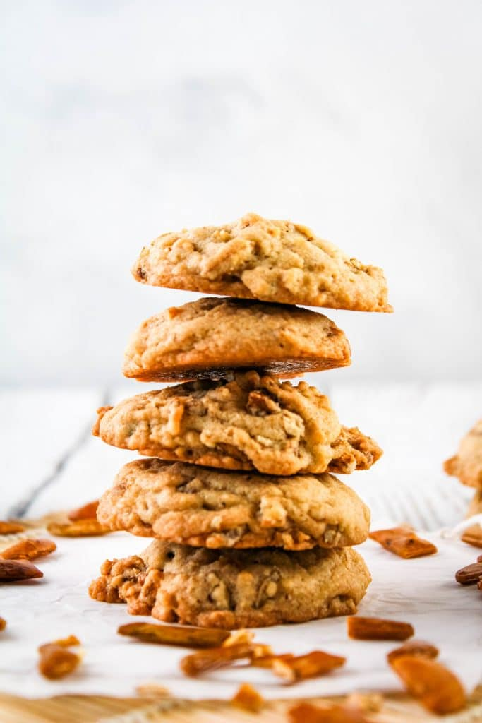 stack of mochi crunch cookies