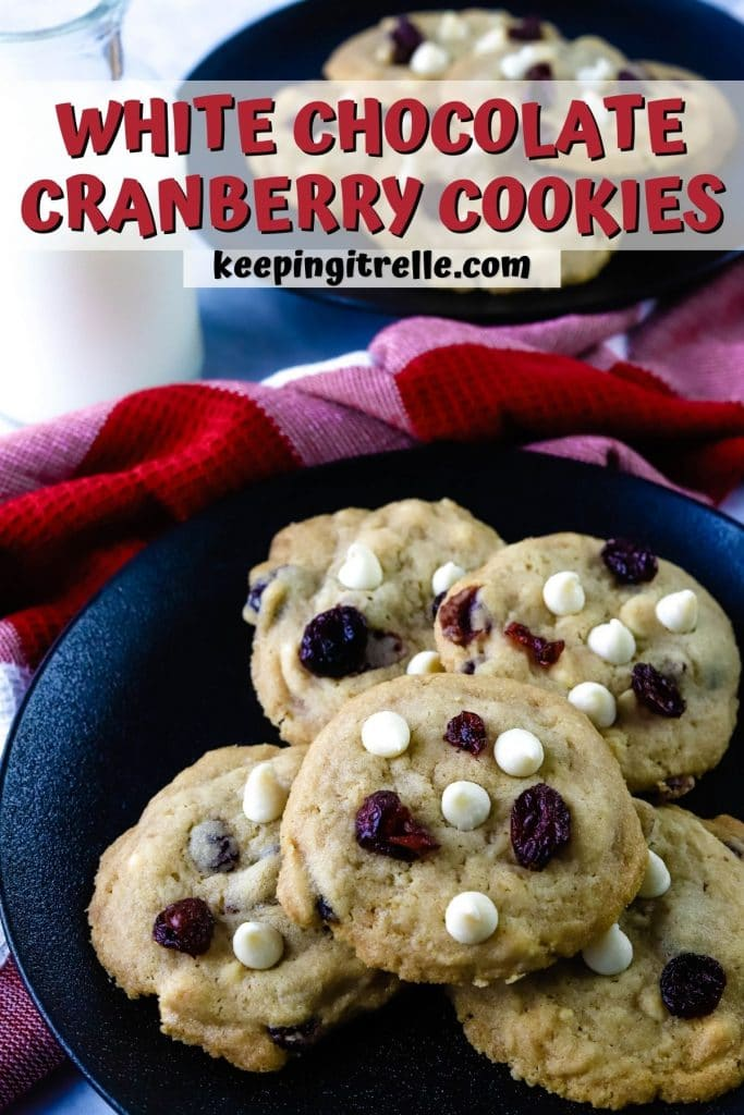 white chocolate cranberry cookies pin
