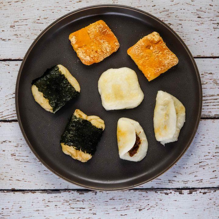 kiri mochi varieties