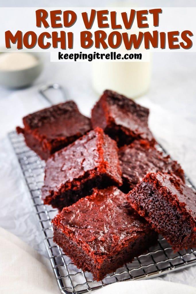red velvet mochi brownies pin