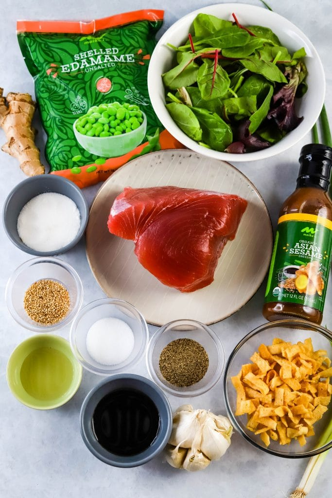 seared ahi salad ingredients