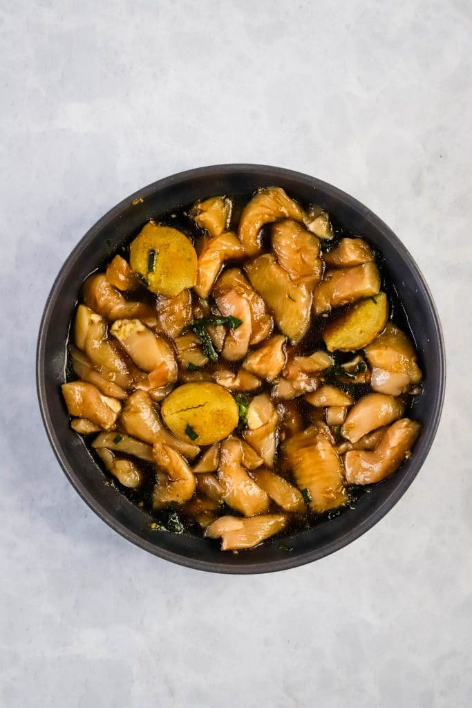 soaked chicken for teriyaki chicken kabobs