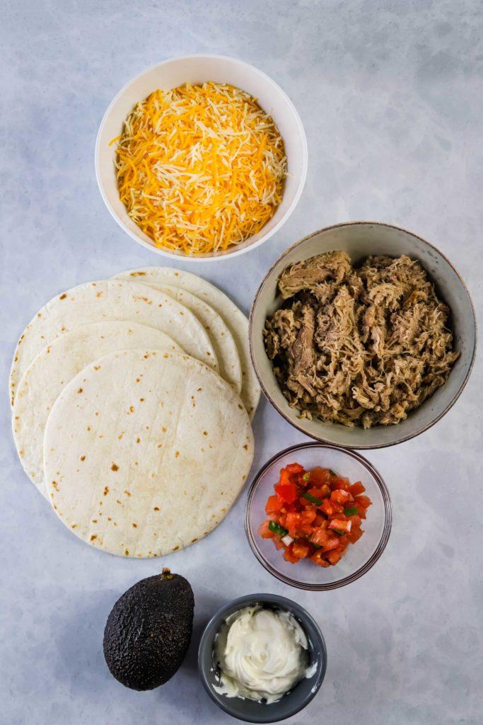 pulled pork quesadillas ingredients