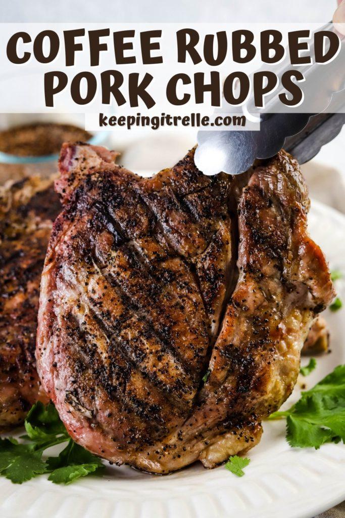 coffee rub grilled pork chops