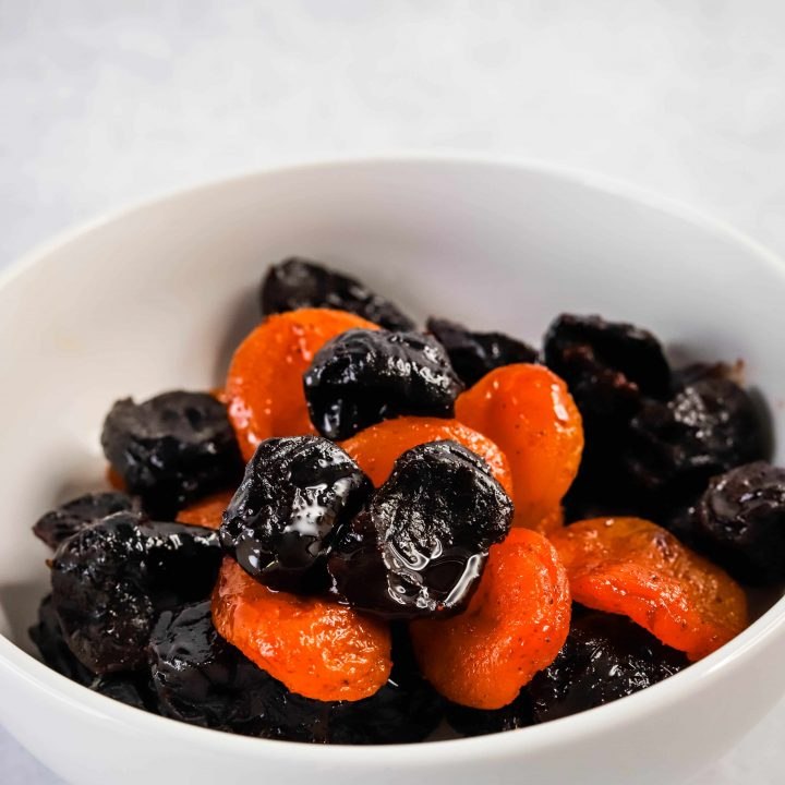 white bowl filled with prune mui